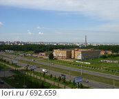 Россия вид из окна на город Казань (2008 год). Редакционное фото, фотограф Венюков Вячеслав / Фотобанк Лори