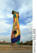 Купить «Скульптура Жоана Миро в Барселоне», фото № 692859, снято 17 сентября 2008 г. (c) АЛЕКСАНДР МИХЕИЧЕВ / Фотобанк Лори