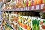 Полки с упаковками фруктовых соков  в супермаркете, фото № 692903, снято 8 февраля 2009 г. (c) Баевский Дмитрий / Фотобанк Лори