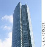 Купить «Офисное здание на фоне синего неба», фото № 695359, снято 25 сентября 2008 г. (c) Valeriy Novikov / Фотобанк Лори