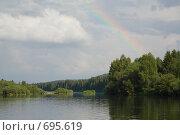 Купить «Пейзаж с радугой», фото № 695619, снято 11 июля 2008 г. (c) Максим Стриганов / Фотобанк Лори