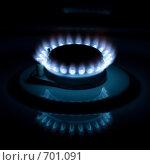 Синее пламя газа. Стоковое фото, фотограф Евгений Булатов / Фотобанк Лори