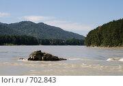 Каменный выступ в реке. Стоковое фото, фотограф Дмитрий Федяков / Фотобанк Лори