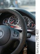 Купить «Руль автомобиля», фото № 703407, снято 14 февраля 2009 г. (c) Федор Королевский / Фотобанк Лори