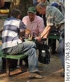 Шахматисты (2008 год). Редакционное фото, фотограф Китаев Олег Александрович / Фотобанк Лори