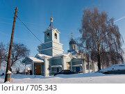 Купить «Церковь. Общий вид», фото № 705343, снято 1 февраля 2009 г. (c) Шахов Андрей / Фотобанк Лори