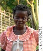 Портрет африканской девочки (2007 год). Редакционное фото, фотограф Ольга Морозова / Фотобанк Лори