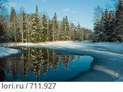 Зимний пейзаж. Стоковое фото, фотограф Сергей Шустов / Фотобанк Лори
