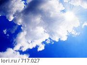 Купить «Голубая небесная абстракция», фото № 717027, снято 18 мая 2008 г. (c) Андрей Бурдюков / Фотобанк Лори