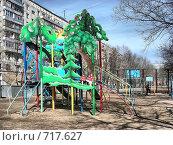 Купить «Москва. Детская площадка», эксклюзивное фото № 717627, снято 2 апреля 2008 г. (c) lana1501 / Фотобанк Лори