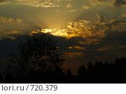 Лучи солнца в облаках. Стоковое фото, фотограф Брысин Константин / Фотобанк Лори