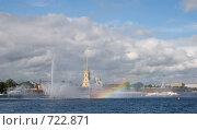Купить «Санкт-Петербург. Плавающий фонтан на Неве», фото № 722871, снято 9 августа 2008 г. (c) Румянцева Наталия / Фотобанк Лори