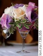 Купить «Флористическая композиция для банкета», фото № 730355, снято 3 августа 2007 г. (c) Ольга Харламова / Фотобанк Лори
