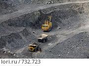 Купить «Добыча железной руды открытым способом», фото № 732723, снято 23 июня 2008 г. (c) Андрей Константинов / Фотобанк Лори
