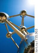 """Купить «Монумент """"Atomium"""" в Брюсселе», фото № 735903, снято 11 мая 2008 г. (c) Александр Телеснюк / Фотобанк Лори"""