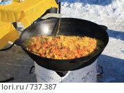 Купить «Плов в старом казане», фото № 737387, снято 28 февраля 2009 г. (c) Андрей Соловьев / Фотобанк Лори