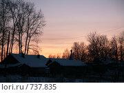Купить «Поселок Илеза», фото № 737835, снято 3 января 2009 г. (c) Дмитрий Золотарев / Фотобанк Лори