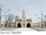 Купить «Вокзал города Петергоф», фото № 738859, снято 23 февраля 2009 г. (c) Евгений Поздняков / Фотобанк Лори