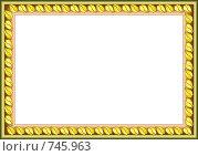 """Купить «Декоративная рама """"Осенние листья""""», иллюстрация № 745963 (c) Алексей Лебедев-Реллер / Фотобанк Лори"""