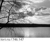 Черно-белый закат. Стоковое фото, фотограф Александр Бедо / Фотобанк Лори
