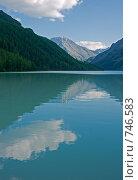Купить «Горное озеро Кучерлинское, Алтай», фото № 746583, снято 29 июля 2008 г. (c) Max Toporsky / Фотобанк Лори