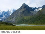 Купить «Аккемская долина и озеро Ак-кем, Алтай, Россия», фото № 746595, снято 21 июля 2008 г. (c) Max Toporsky / Фотобанк Лори