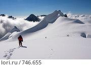 Купить «Восхождение на вершину. Белуха, Алтай, Россия», фото № 746655, снято 26 июля 2008 г. (c) Max Toporsky / Фотобанк Лори