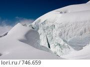 Купить «Большая трещина на леднике на склоне Белухи. Алтай, Россия», фото № 746659, снято 26 июля 2008 г. (c) Max Toporsky / Фотобанк Лори