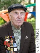 Купить «Ветеран», фото № 748903, снято 9 мая 2008 г. (c) Михаил Ворожцов / Фотобанк Лори