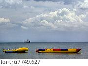 Купить «Банановая лодка на Средиземноморское побережье в Тунисе», фото № 749627, снято 20 мая 2008 г. (c) Aleksander Kaasik / Фотобанк Лори