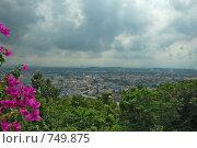 Купить «Вид с площадки на холме на залив. Паттайа. Таиланд», фото № 749875, снято 10 октября 2007 г. (c) Ирина Доронина / Фотобанк Лори
