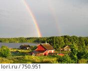 Купить «Двойная радуга», фото № 750951, снято 26 июля 2008 г. (c) Ноева Елена / Фотобанк Лори
