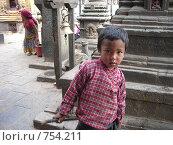 Непальский мальчик. Редакционное фото, фотограф Луканцев Иван Сергеевич / Фотобанк Лори