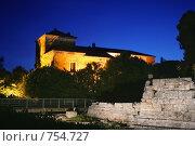 Купить «Старинный каменный дом. Ночь», фото № 754727, снято 21 мая 2006 г. (c) Татьяна Белова / Фотобанк Лори