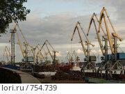 Краны в порту (2008 год). Редакционное фото, фотограф Афанасьева Екатерина / Фотобанк Лори