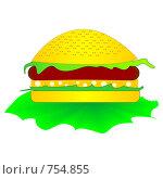 Купить «Чизбургер», иллюстрация № 754855 (c) Алексей Лебедев-Реллер / Фотобанк Лори