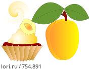 Купить «Абрикосовый десерт», иллюстрация № 754891 (c) Алексей Лебедев-Реллер / Фотобанк Лори