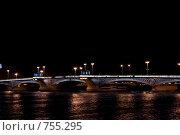 Ночной мост (2008 год). Стоковое фото, фотограф Афанасьева Екатерина / Фотобанк Лори