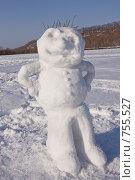 Купить «Снежный парень», фото № 755527, снято 9 марта 2009 г. (c) Леонид Селивёрстов / Фотобанк Лори