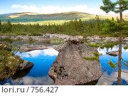 Озеро Сейдъявр. Лапландский заповедник (2008 год). Редакционное фото, фотограф Смирнов Павел / Фотобанк Лори