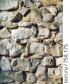 Купить «Стена выложенная из природного камня», фото № 758175, снято 18 марта 2009 г. (c) Кирпинев Валерий / Фотобанк Лори