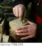 Купить «Руки мастера по шкатулкам», фото № 758315, снято 22 января 2009 г. (c) Анна Мегеря / Фотобанк Лори