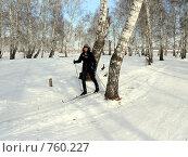 Купить «Лыжница», фото № 760227, снято 23 февраля 2009 г. (c) Алексей Стоянов / Фотобанк Лори