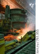 Купить «Электросталеплавильный цех», фото № 761955, снято 26 июня 2008 г. (c) Андрей Константинов / Фотобанк Лори