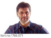 Купить «Мужчина на белом фоне», фото № 766071, снято 4 января 2007 г. (c) Михаил Лавренов / Фотобанк Лори