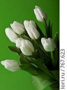 Букет белых тюльпанов. Стоковое фото, фотограф Лисовская Наталья / Фотобанк Лори