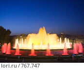 Купить «Фонтан перед Национальным Дворцом Каталонии. Барселона», фото № 767747, снято 27 августа 2008 г. (c) Vitas / Фотобанк Лори
