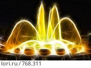 Купить «Фрактальная обработка фонтана перед Национальным Дворцом Каталонии», иллюстрация № 768311 (c) Vitas / Фотобанк Лори