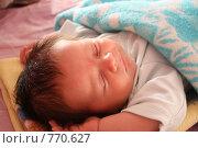 Спящий ребенок. Стоковое фото, фотограф Агибалова Кристина / Фотобанк Лори