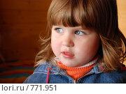 Портрет маленькой девочки. Стоковое фото, фотограф Ольга Харламова / Фотобанк Лори